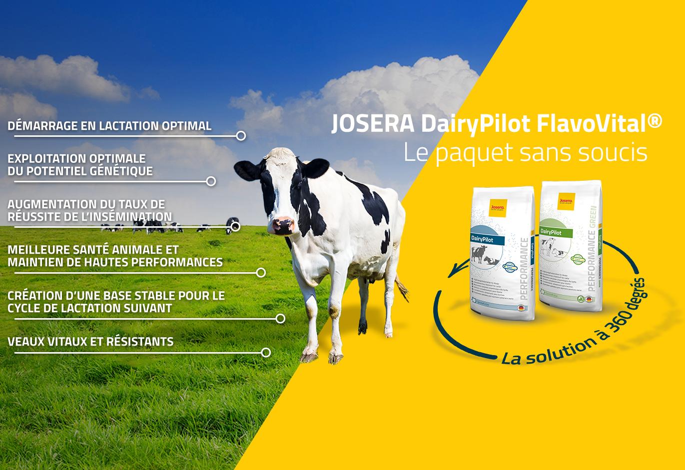 JOSERA DairyPilot - la solution à 360 degrés
